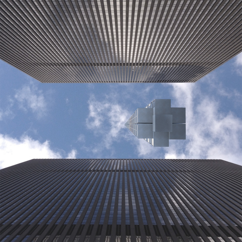 analemma tower clouds architecture office