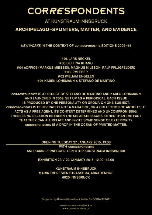 Perfekt ARCHIPELAGOu2014SPLINTERS, MATTER, AND EVIDENCE   Institut Für Gestaltung  Studio 1